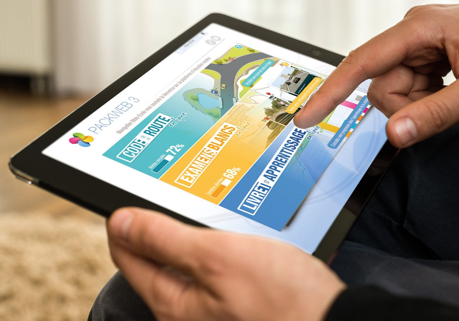 photo tablette apprentissage code de la route
