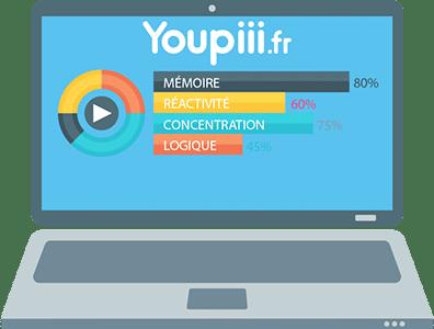 illustration ordinateur avec test en ligne