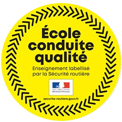 Logo label qualité école conduite qualité