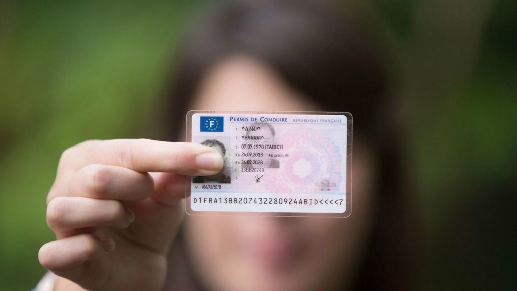 image d'une personne tenant un permis de conduire